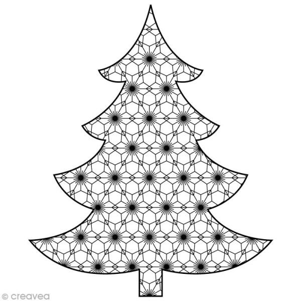 Tampon Noël - Sapin Noël - 7,5 x 6,5 cm - Photo n°1