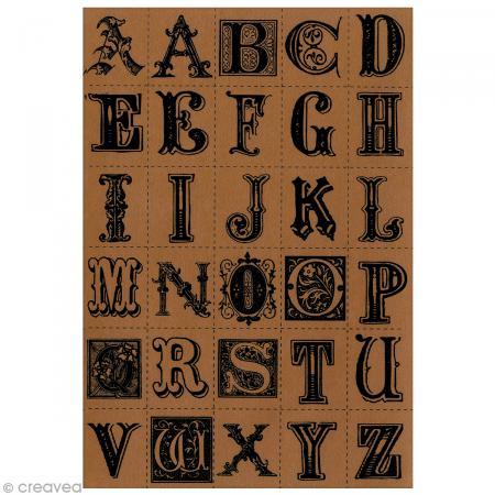 Stickers Alphabet imitation cuir x 30 pcs - Photo n°1
