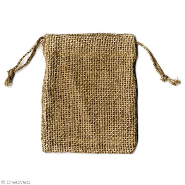 Pochette en Jute x 4 pcs - Photo n°1