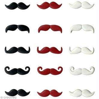 Attaches parisiennes Artemio - Moustaches x 15 pcs