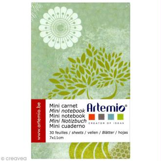 Mini carnet scrapbooking Pure Zen - 7 x 11 cm x 30 feuilles