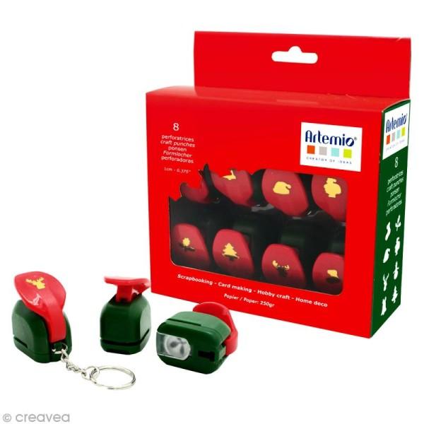 Kit mini perforatrices Noël x 8 pcs - Photo n°1