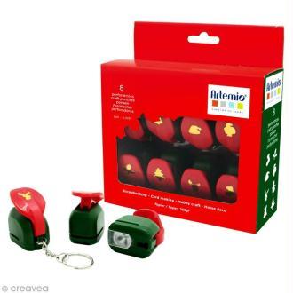 Kit mini perforatrices Noël x 8 pcs