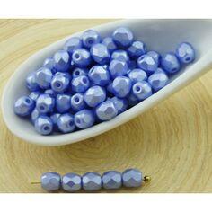 100pcs Rond Tchèque Perles De Verre Facettes Feu Poli Petites Spacer 4 mm