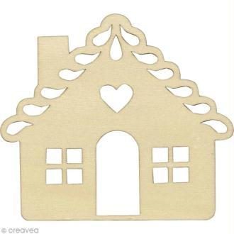 Silhouette Maison en bois 9 cm - 3 pcs