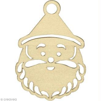 Silhouette Père Noël en bois 8 cm - 3 pcs