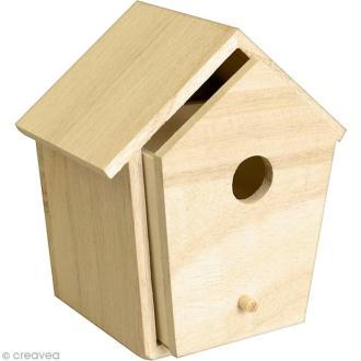 Nichoir à tiroir en bois - 10 x 9 cm