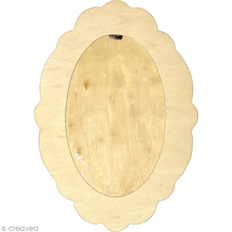 Cadre ovale en bois - 27 x 19 cm - Photo n°1