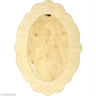 Cadre ovale en bois - 27 x 19 cm