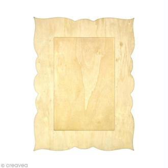 Cadre rectangulaire en bois - 23 x 17,5 cm