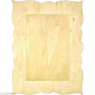 Cadre rectangulaire en bois - 39,5 x 30 cm