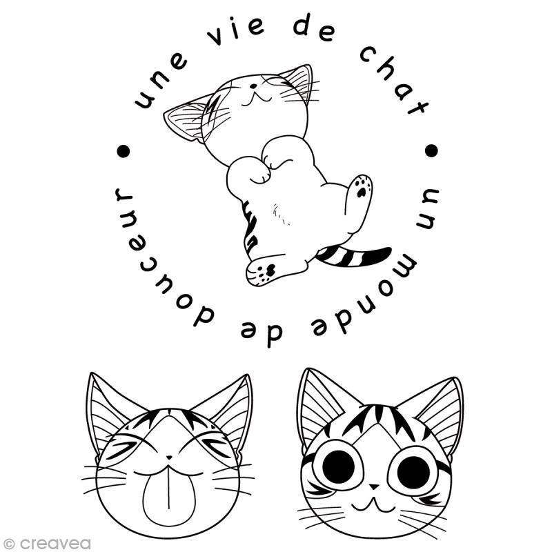 Mini tampon clear chi une vie de chat set de 3 tampons - Dessin de chi ...