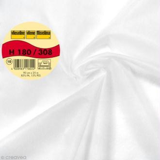 Vlieseline H180 extra légère - Largeur 90 cm - Blanc - Au mètre (sur mesure)