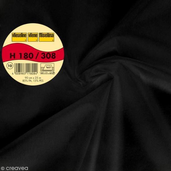 Vlieseline H180 extra légère - Largeur 90 cm - Noir - Au mètre (sur mesure) - Photo n°1