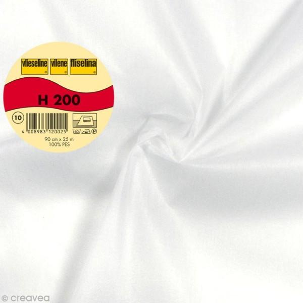Vlieseline H200 collante souple - Largeur 90 cm - Blanc - Au mètre (sur mesure) - Photo n°1