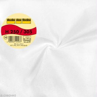Vlieseline H250 collante raide - Largeur 90 cm - Blanc - Au mètre (sur mesure)