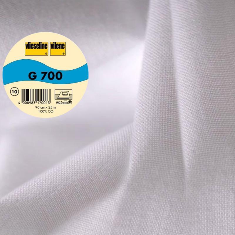 Vlieseline G700 Coton Tissé Largeur 90 Cm Blanc Au Mètre Sur