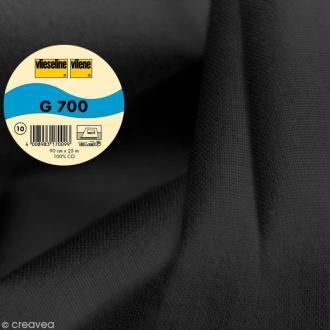Vlieseline G700 coton tissé - Largeur 90 cm - Noir - Au mètre (sur mesure)