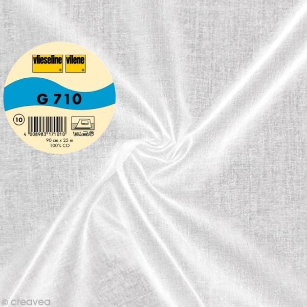 Vlieseline G710 coton tissé - Largeur 90 cm - Blanc - Au mètre (sur mesure) - Photo n°1