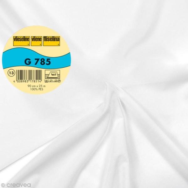 Vlieseline G785 très léger - Largeur 90 cm - Blanc - Au mètre (sur mesure) - Photo n°1