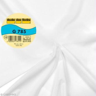 Vlieseline G785 très léger - Largeur 90 cm - Blanc - Au mètre (sur mesure)