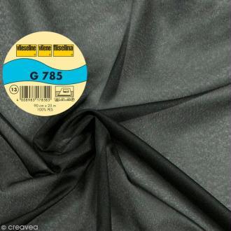 Vlieseline G785 très léger - Largeur 90 cm - Noir - Au mètre (sur mesure)