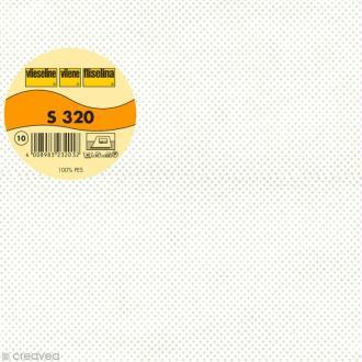 Vlieseline S320 cantonnière - Largeur 30 cm - Blanc - Au mètre (sur mesure)