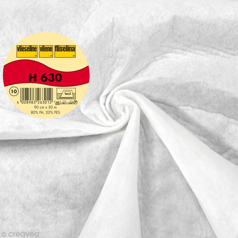 Vlieseline H630 ouatine volumineuse fine - Largeur 90 cm - Blanc - Au mètre (sur mesure) - Photo n°1