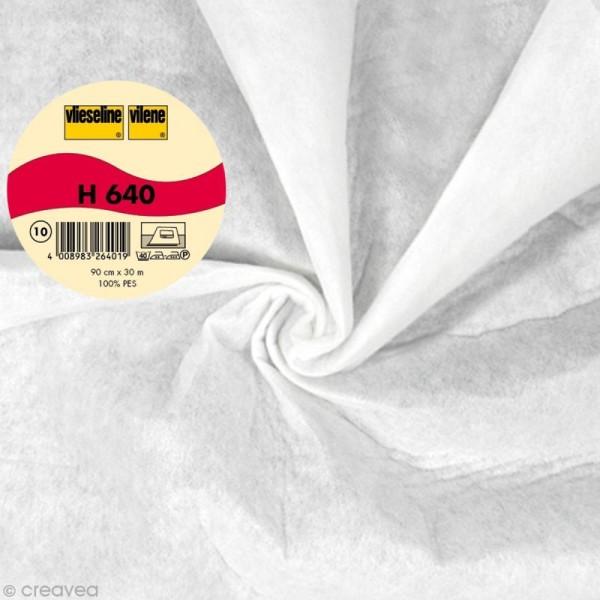 Vlieseline H640 ouatine volumineuse - Largeur 90 cm - Blanc - Au mètre (sur mesure) - Photo n°1