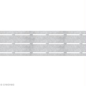 Vlieseline perfobande - Ceinture 7 cm - Blanc - Au mètre (sur mesure)