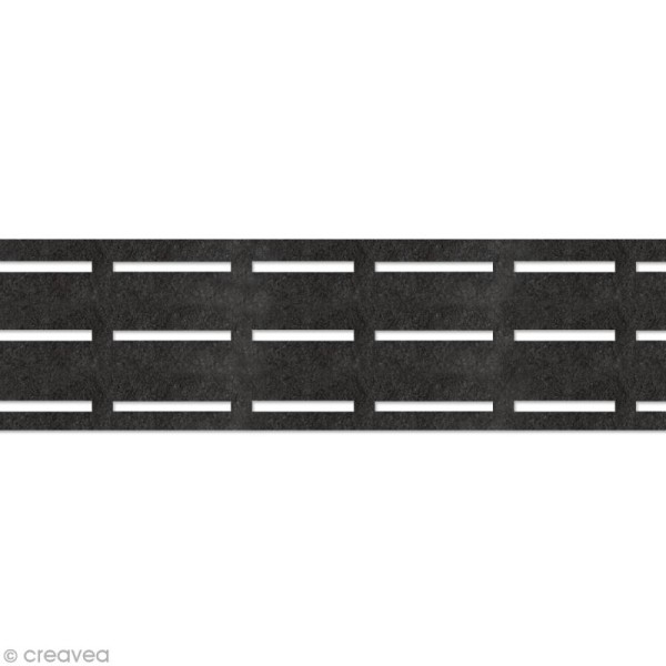 Vlieseline perfobande - Ceinture 7 cm - Noir - Au mètre (sur mesure) - Photo n°1