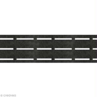 Vlieseline perfobande - Ceinture 7 cm - Noir - Au mètre (sur mesure)