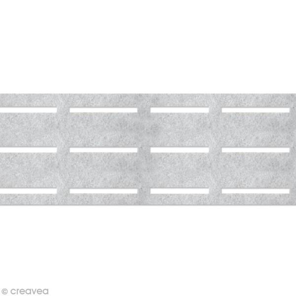 Vlieseline perfobande - Ceinture 8 cm - Blanc - Au mètre (sur mesure) - Photo n°1