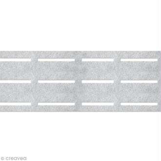 Vlieseline perfobande - Ceinture 8 cm - Blanc - Au mètre (sur mesure)
