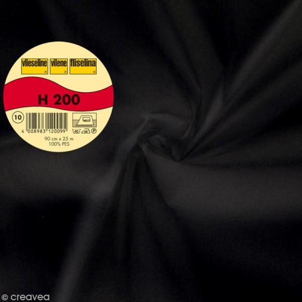 Vlieseline H200 collante souple - Largeur 90 cm - Noir - Au mètre (sur mesure) - Photo n°1