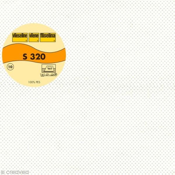Vlieseline S320 cantonnière - Largeur 90 cm - Blanc - Au mètre (sur mesure) - Photo n°1