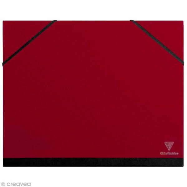 Carton / chemise à dessin - 26 x 33 cm - Rouge cerise - Photo n°1