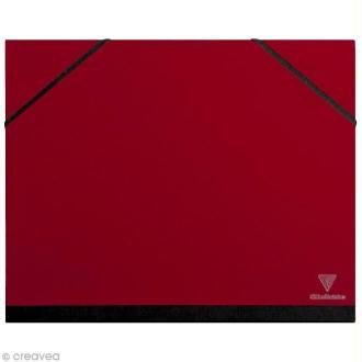 Carton / chemise à dessin - 26 x 33 cm - Rouge cerise