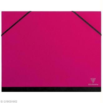 Carton / chemise à dessin - 26 x 33 cm - Rose fuchsia