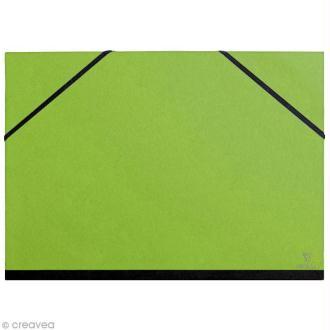 Carton / chemise à dessin - 37 x 52 cm - Vert pomme