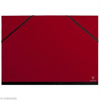 Carton / chemise à dessin - 37 x 52 cm - Rouge cerise