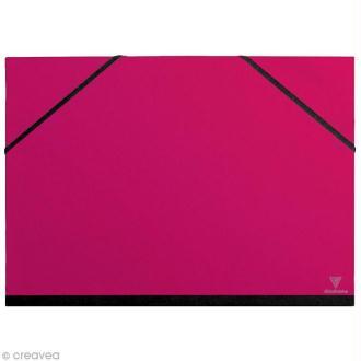 Carton / chemise à dessin - 37 x 52 cm - Rose fuchsia