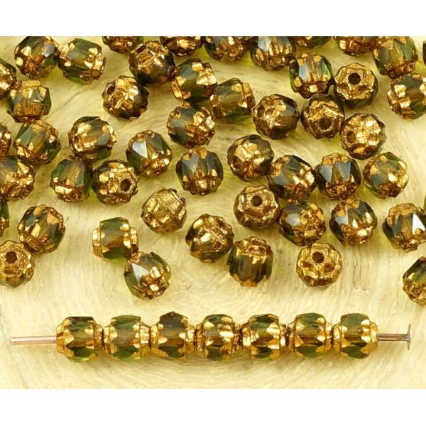 Lot de 10 Perles Tchèques Cœur en verre 8mm Cristal