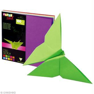 Papier origami 10 couleurs 12 x 12 cm - 100 feuilles