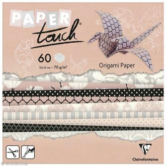 Papier origami Paper Touch - 15 x 15 cm - Magnolias - 60 feuilles