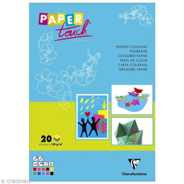 Papier pour activités manuelles - A3 x 20 feuilles assorties - Photo n°1