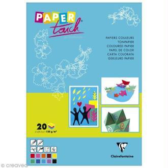 Papier pour activités manuelles - A4 x 20 feuilles multicolores