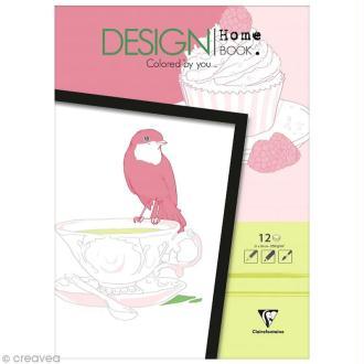 Bloc coloriage adulte Clairefontaine - Design home book - Buckingam - 21 x 30 cm