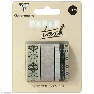 Masking tape Clairefontaine - Magnolias - 5 rouleaux assortis