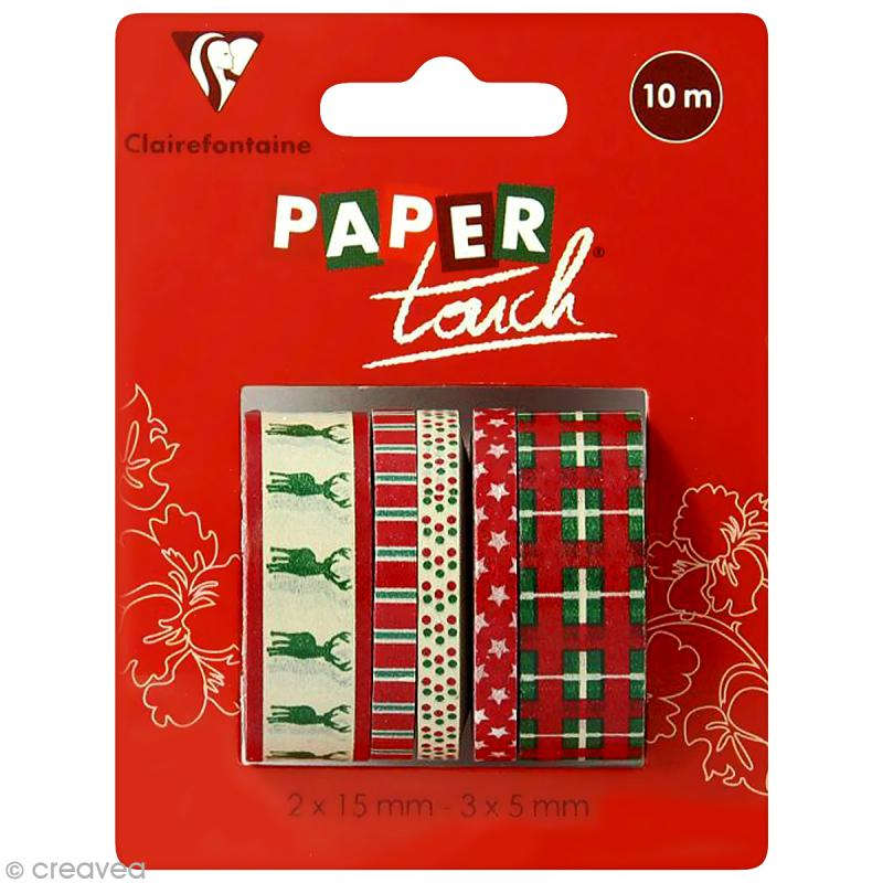 Masking tape Clairefontaine - Noël - 5 rouleaux assortis - Photo n°1